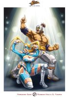 Rainbow Mika and El Fuerte _ Street Fighter by Sano-BR