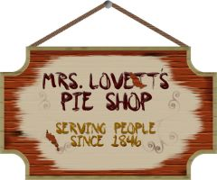 Mrs. Lovett's Pie Shop Sign by silbernesGlas