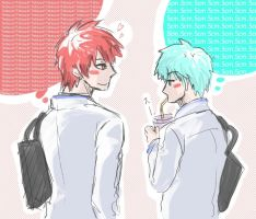 Kuroko no basuke_walking home together by LuCiFelLo