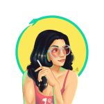 Summer gal and her ouroboros by Ariada