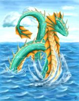 Elemental Dragon - Water by Scorptique