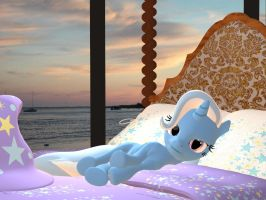 A Great and Powerful Bedroom - Bored 2/2 by Rachidna