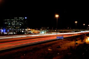 Highway Night Lights by gale015