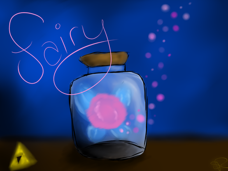 Fairy In A Bottle by blood-covered-devil