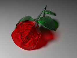 Glass rose by ovzer