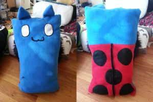 Catbug Pillow by OddCurio