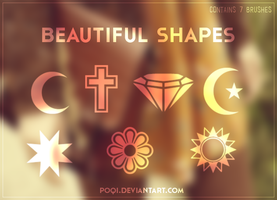 {Beautiful Shapes - BRUSHES} by Poqi