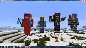 Server Members Skin Statues by TheApiem