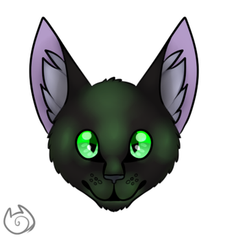 Bandit The Cat (paint shadows practice) by TheBlackKitty1