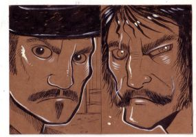 Bullock and Bill sdcc drawings by missmonster