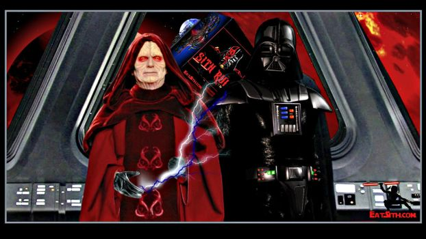 Darth Sidious Darth Vader Welcome Wallpaper by Eat-Sith