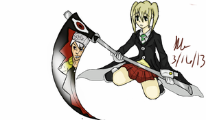 SE-Soul and Maka by CrystleIceFire