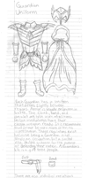 Kaman Chronicles: Guardian Uniform Notes by PancakeShiners