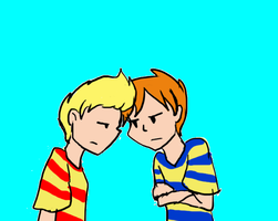 Lucas And Claus by RawrDinosaursPie