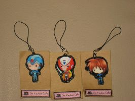 My Megaman X, Zero, and Volnutt Cellphone Charms by tanlisette
