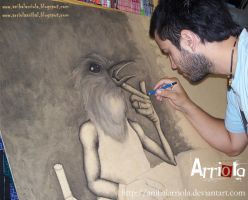 Flagelo proceso  WIP by anibalarriola
