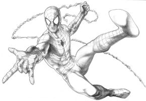 Spiderman swinging by PatC-14