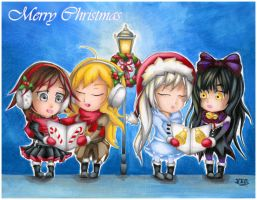 RWBY Christmas card by stray-life
