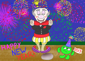 King Candy's New Year Eve celebration by DarkwingFan