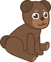 Free Cute Bear Lineart (with credit) by BlueBearMan