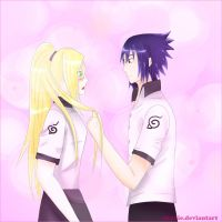 sasuke And ino by shuhie