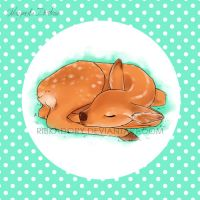Sleeping Deer by ribkaDory