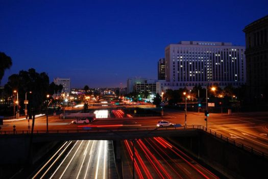 Los Angeles - Night-time by KingVahagn