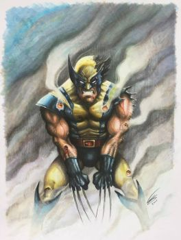 Wolverine drawn in Copic Markers by JonARTon