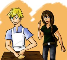 Peeta and Katniss Sketch by Tetra-Zelda