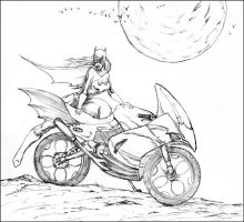 Batgirl goes for a ride by DW-DeathWisH