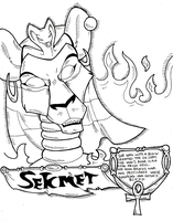 Webcomic Style - Sekhmet by KaylaTheDragoness