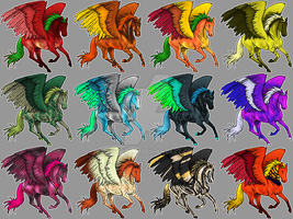 Pegasi Adoptables by Painted666