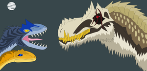 Tyrant Beasts Confrontation by EliteRaptor2015