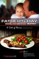 Fathers Day Buffet Poster by cgitech