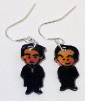 Lestrade and Moriarty earrings by Lovelyruthie