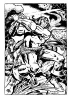 Inking Jack Kirby Conan INKS by profchallenger