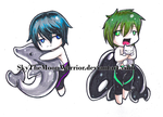 FREE Haruka and Makoto bookmark chibis by Fly-Sky-High