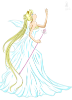 Neo Queen Serenity coloured by Xeu-Seung