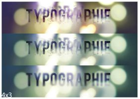 Typographie 4x3 by faust8
