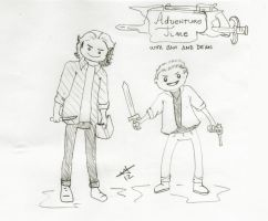 Adventure Time with Sam and Dean by Ladymalk