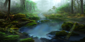 Mystic Pond by JKRoots