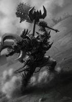 Wh40K: Ork Warboss by StugMeister