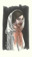 PRINCESS LEIA ZOMBIE by leagueof1