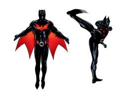 PeubloShatners Batman Beyond with colour by sean-izaakse