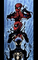 Symbiote Spidey: Transformation COLORS by ProjectDJ