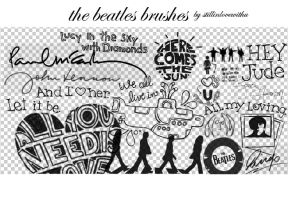 The Beatles Brushes by stillinlovewithu