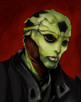 PORTRAIT: Thane Krios by pen-gwyn