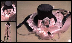 Lolita Pink Little Top Hat by luxferia