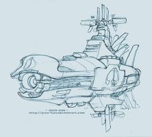 Spaceship sketch by juzo-kun