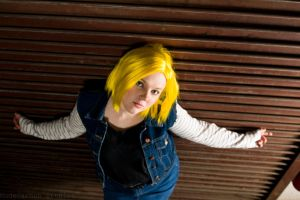 'Here's Lookin' At You' - Android 18 DBZ Cosplay by OxfordCommaCosplay